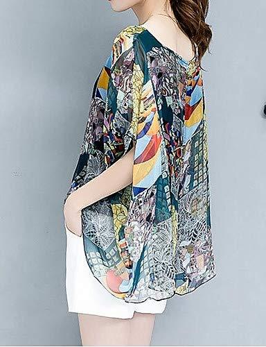 YFLTZ Womens Blouse Geometric Print