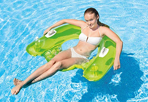 """Intex Sit N Float Inflatable Lounge, 60"""" X 39"""" (Colors May Vary)(2 Pack)"""