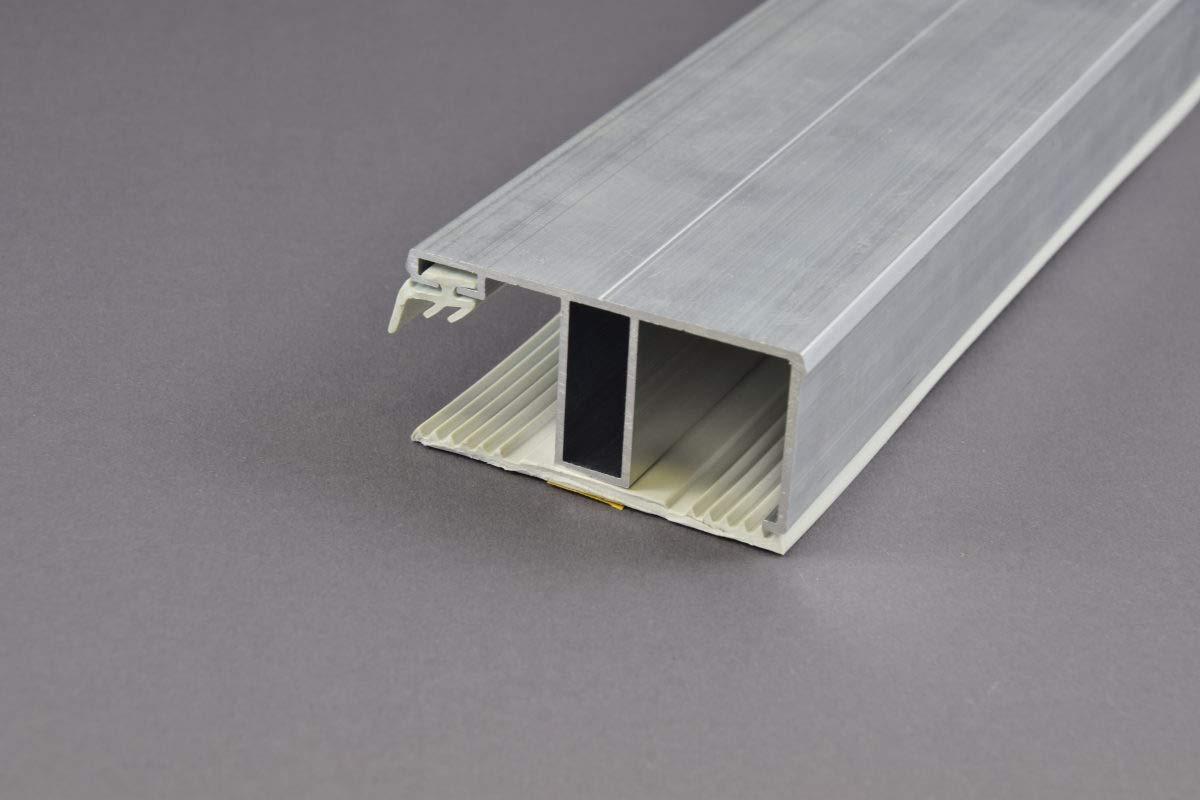 Stegplatte Randprofil Profile f/ür 16mm Stegplatten Alu//Alu 3,5 Meter