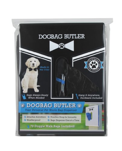 Image of dogbag BUTLER Pet Dog Waste Bag, Black with Black