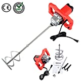 Powerful 1600 Watts Electric Mortar Mixer for Mixing Concrete Thin Set Drywall Mud Paint Paddle 110 V | Durable Hand Handheld Dual High Low Gear 6 Speed Tackling Easy Comfortable DIY Professional Use