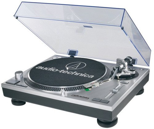 Audio-Technica AT-LP120-USB Direct-Drive Professional Turntable in Silver Direct Drive Dj Turntable