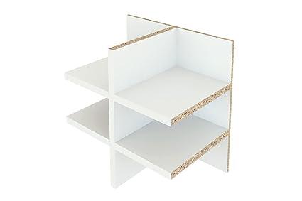 Inwona Ikea Kallax Regal Einsatz Briefablage Regalfach Sortierablage Ablage Fur Flyer Und Din A5 Postfach Mit 6 Fachern Farbe Weiss