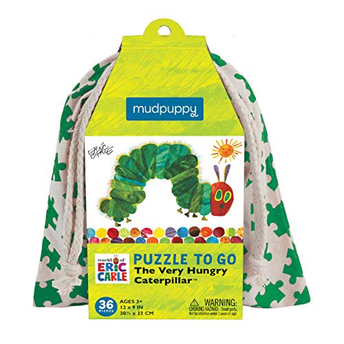 (Mudpuppy The Very Hungry Caterpillar to Go Puzzle, 36 Pieces, Ages 3+, Beloved Eric Carle Artwork, Made with Safe, Non-Toxic Materials)