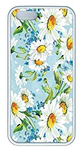 IMARTCASE iPhone 5S Case, Daisy Flowers Case for Apple iPhone 5S/5 TPU - White
