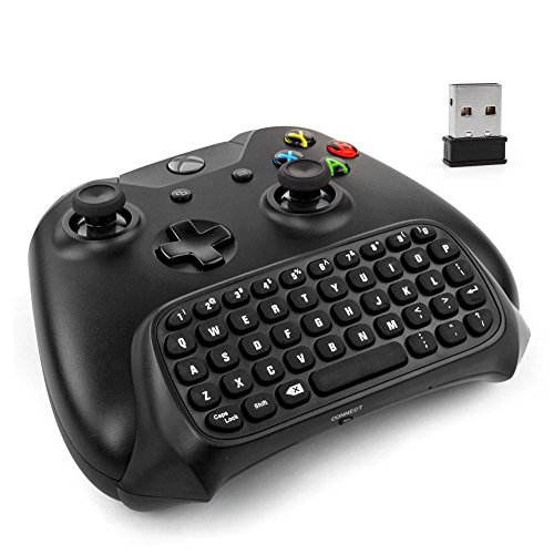 Price comparison product image Xbox One Controller Keyboard - 2.4Ghz Wireless Mini Bluetooth Text Messenger Chatpad Keypad Adapter for Xbox One Game Controller Black