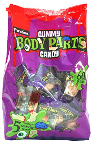 Frankford Candy Company Gummy Body Parts, Assorted Fruit, 60 Count for $<!--$49.32-->