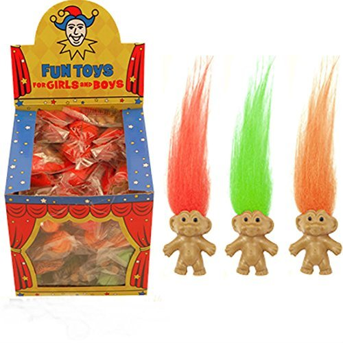 Retro Trolls Party Bag Fillers Loot Girls Boys Childrens Kids Fun Toy by NaNa (Lucky Cake Charms)