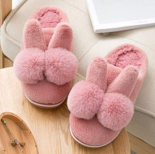 Slippers Warm Red Womens Bunny Fuzzy Winter Slipper Shoes Indoor Outdoor SfUOq
