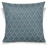 Staroind 3D Islamic Morocco Style Decorative Throw Pillowcase Cushion Pillow Cover 18'' x 18'' for Couch, Bed, Sofa or Patio - Only Case, Double Sides, No Insert