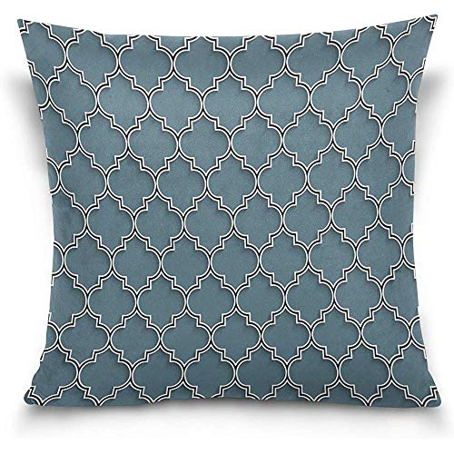 Staroind 3D Islamic Morocco Style Decorative Throw Pillowcase Cushion Pillow Cover 18'' x 18'' for Couch, Bed, Sofa or Patio - Only Case, Double Sides, No Insert by Staroind