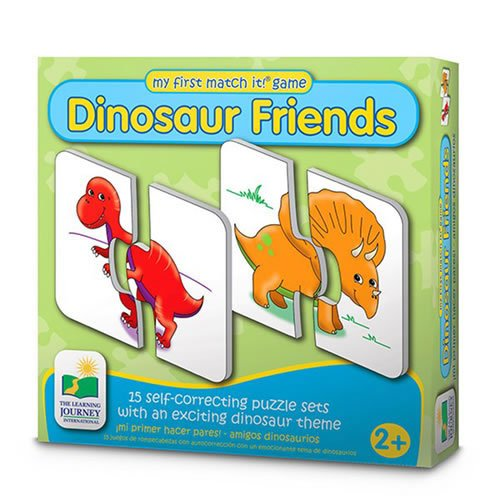 The Learning Journey My First Match It - Dinosaurs - 15 Self-Correcting Matching (Exciting Puzzle Game)