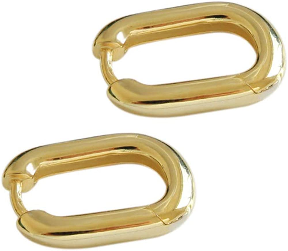 Minimal Contemporary Oval Hoops Rose Quartz Silver Oval Hoop Earrings Simple Eco Chic Hoop Convertible Earrings