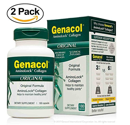Genacol Bio-active Collagen Hydrolysate (360 capsules) Joint Supplements for Back and Knee Pain | Great Alternative to Glucosamine. CERTIFIED Non-GMO, Pasture-Raised - Exclusive Supplements