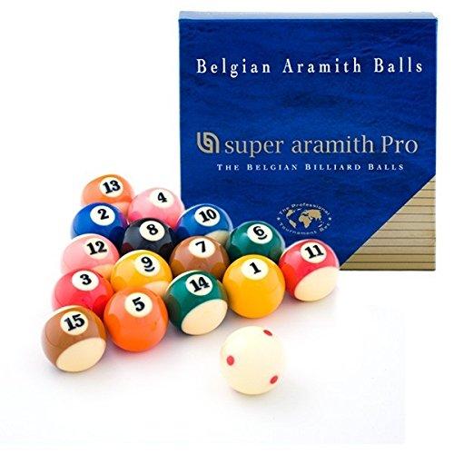 Super Aramith Pro Cup TV Billiards Pool Balls Set 57.2mm