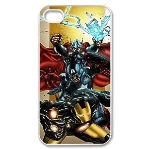 C-EUR Customized Print Avengers Marvel Pattern Back Case for iPhone 4/4S