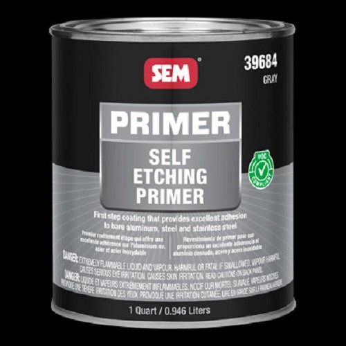 SEM 39684 Self Etching Primer, Gray, Quart