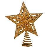 Kurt Adler 8-Inch Gold Glittered 5 Point Star