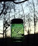 Set Of 3 Hanging GREEN Mason Jar Solar Powered Lanterns Mason Jar Solar Light #1 Design