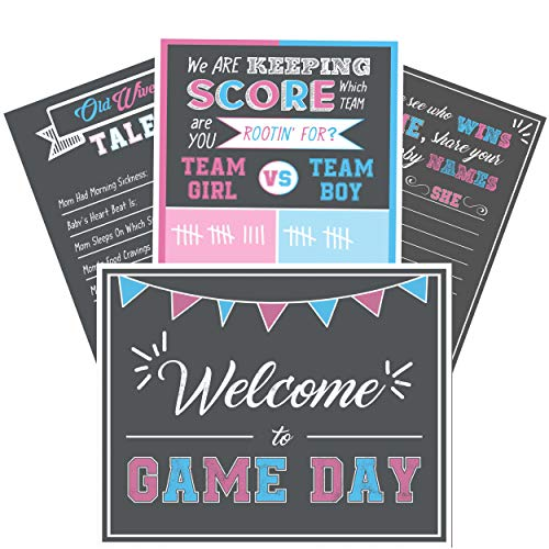 gender reveal party supplies Decorations - Poster Games Kit 16 x 20