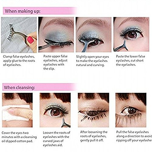 15798d6fe8d Amazon.com: False Eyelashes Applicator Tool Eyelash Extension Tweezers  Remover Clip Tweezers Nipper (Golden): Beauty