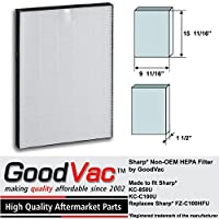 Sharp Non-OEM HEPA FZ-C100HFU KC-850U HEPA Air Purifier Filter by GoodVac