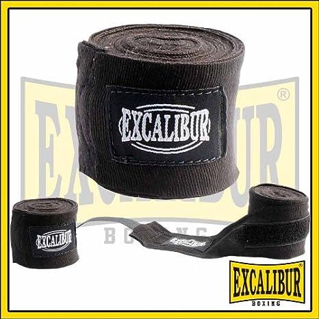 Excalibur Wickelbandage Boxbandagen 1 Paar rot schwarz