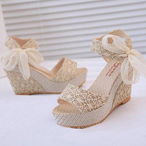 Chaussures Flops Mocassins Summer Blanc Avec Tefamore Flip Femmes Mode Slope Sandales 1R6wqSzAYx