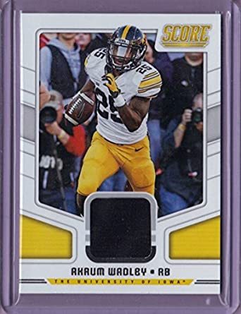Amazon.com  2018 Score Collegiate Jerseys  1 Akrum Wadley - Rookie ... da38c0030