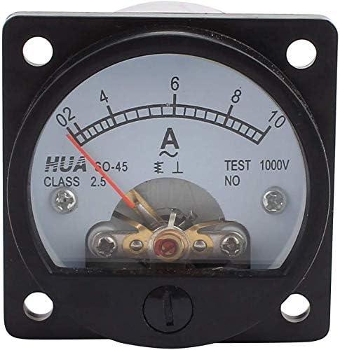 Amperemeter Analog Panel Meter Klasse Amperemeter Rundes Analog Panel Messgerät 2 5 Genauigkeit Ac 0 10 A Schwarz Auto
