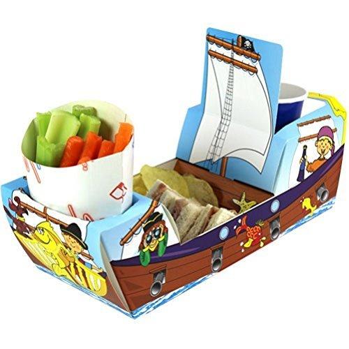 x10 pirata Galeón barco - fiesta comida alimentos bandejas ...