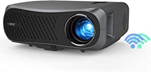 1080P Native Wireless Projector with Bluetooth 5500lumen Support 4K Home/Office Video Projectors Android OS Dual HDMI USB VGA Bult-in Speaker