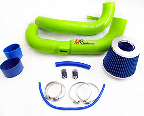 06 07 08 09 10 11 Honda Civic EX/LX/DX 1.8L GREEN Piping Cold Air Intake System Kit with Blue Filter