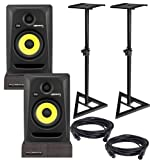 KRK RP5 G3 Studio Monitors w/ Stands & Isolation Pads