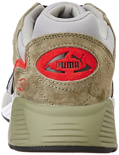 Puma Prevail Street bloque, hombre, Slct Prevail Streetb Black - Sh363136-03-b, Black-Burnt Olive-Drizzle, 42 Puma Black-Burnt Olive-Drizzle