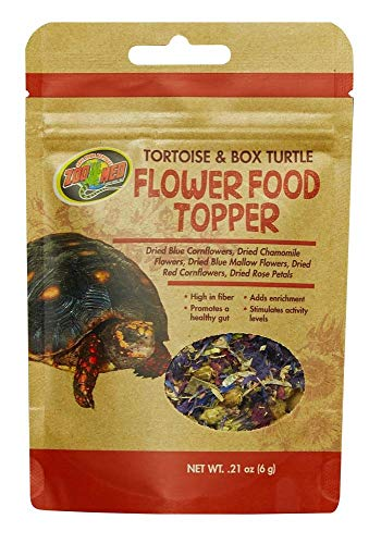 Zoo Med Tortoise and Box Turtle Flower Food Topper, 0.21 - Turtle Food Box