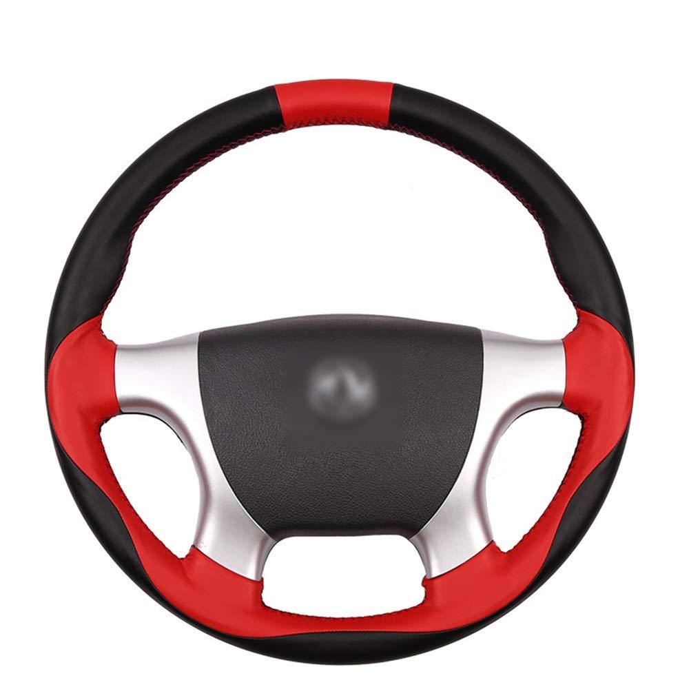 Sdhisi Iu 自動車用ステアリングホイールカバー スリップ防止 ハンドルカバー メンズ 女性用 滑りにくい レザー トラック 高級感溢れ (色 : 黒)  黒 B07R5L9WRM