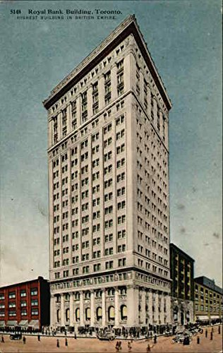 Royal Bank Building Toronto  Ontario Canada Original Vintage Postcard