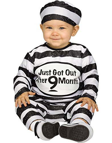 Toddler Time Out TOT Prisoner Costume Size Large 12-24 Months