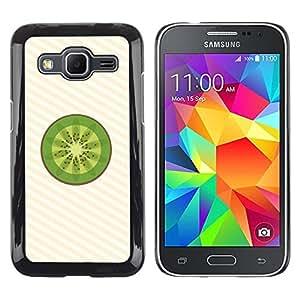 Paccase / Dura PC Caso Funda Carcasa de Protección para - Kiwi Fruit Fresh Art Green Food Healthy - Samsung Galaxy Core Prime SM-G360