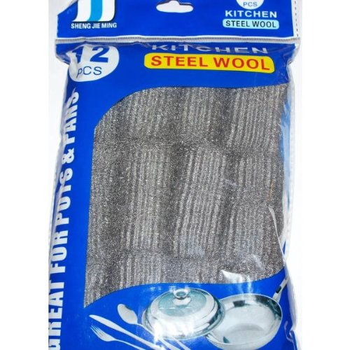 Bulk Buys Steel Wool - Case of 72 by bulk buys