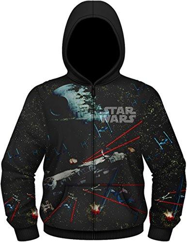 Star Wars Men's Millennium Falcon Hooded Jacket, Black, XXX-Large
