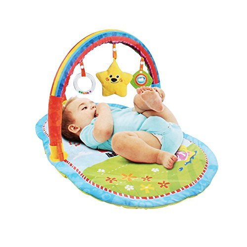 Ultra-Soft Tummy Time Mat With Colorful Attachable Toys Review
