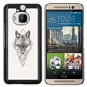 Stuss Case / Funda Carcasa protectora - Polígono Triángulo Lobo - HTC One M9Plus M9+ M9 Plus