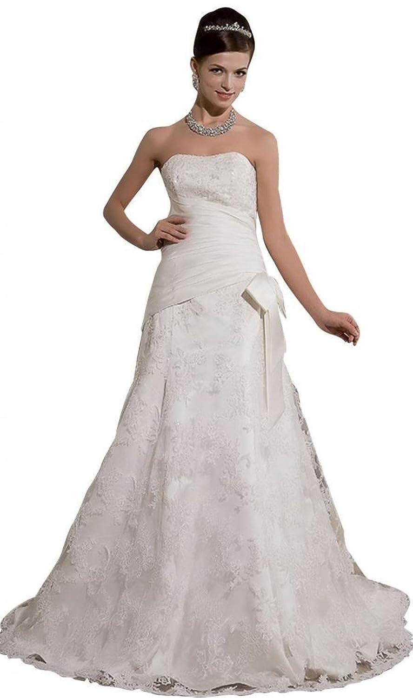 GEORGE BRIDE Princess Lace Court Train Bridal Dress