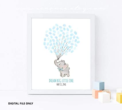 picture relating to Baby Shower Guest Book Printable known as : Elephant Boy or girl Shower guestbook Resolution