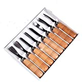 8 Piece Set Wood Carving Hand Chisel Tool Carving Tools Woodworking Professional Gouges New free shipping