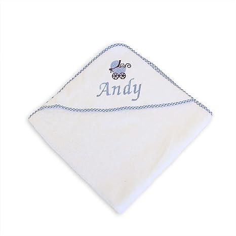 Diseño perzonalizable con nombre y con capucha con texto de toalla de piel sintética con diseño