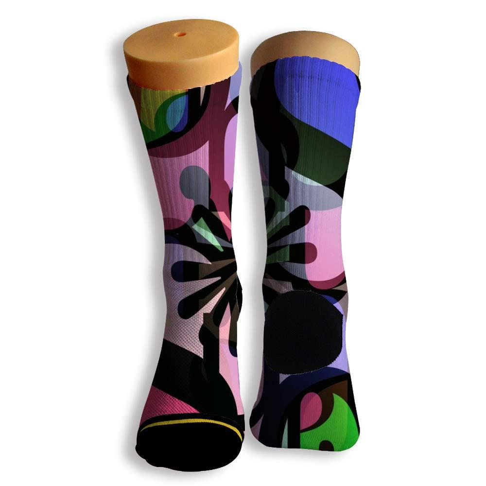 Basketball Soccer Baseball Socks by Potooy Strange Letters Design 3D Print Cushion Athletic Crew Socks for Men Women