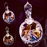 Hand Engraved TILTED GOLDFISH Perfume Bottle, Series G